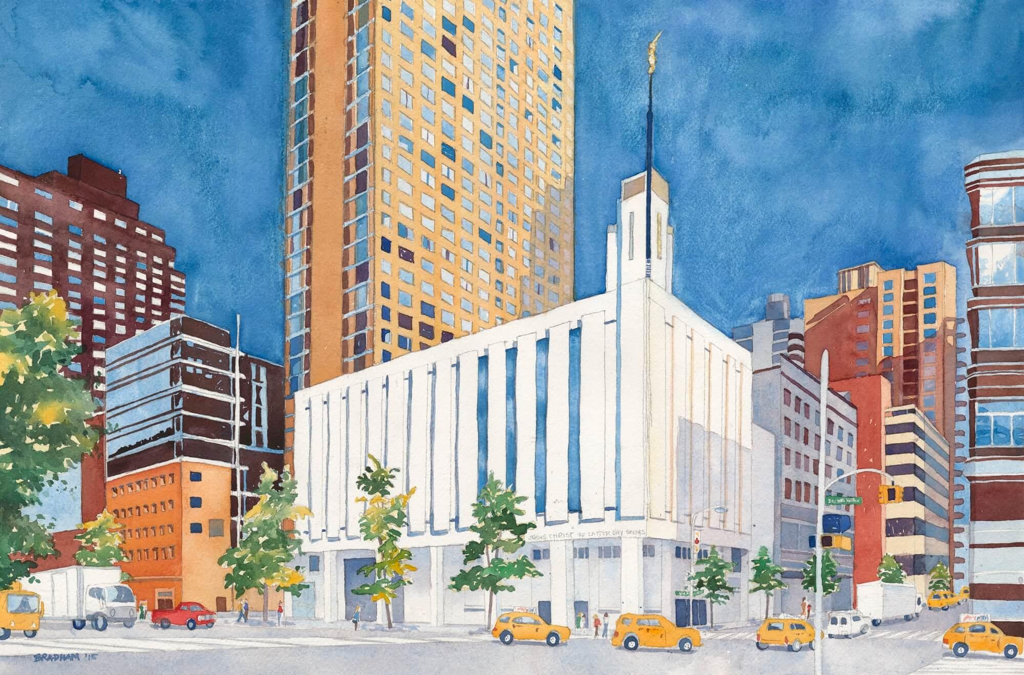 Manhattan Lds Temple Paintings Manhattan Temple Giclee Prints